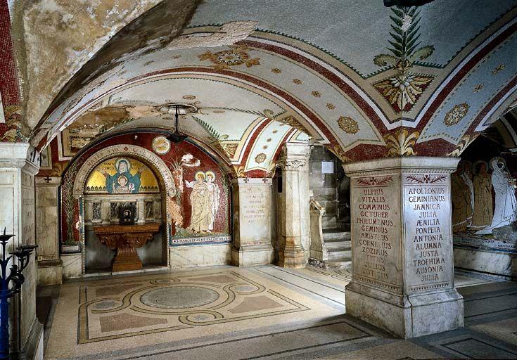 Chapelle souterrain dite caveau de Saint-Pothin, sous l'ancien hôpital de l'Antiquaille